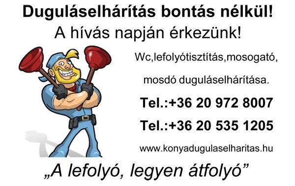 Duguláselhárítás I. kerület Budapest